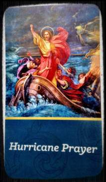 Hurricane Prayer card
